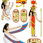 Vector collection - Egyptian goddess Isis...