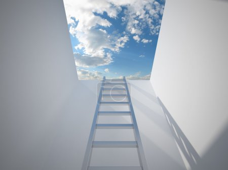 Photo for Ladder leading up to the light - Royalty Free Image