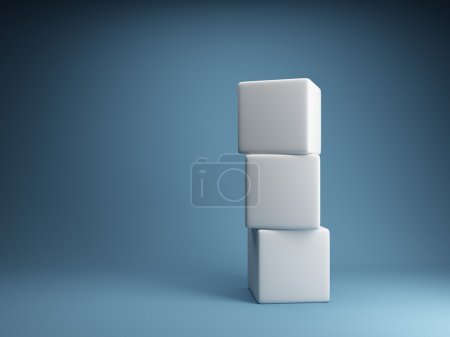Photo for Design of abstract cubes - Royalty Free Image