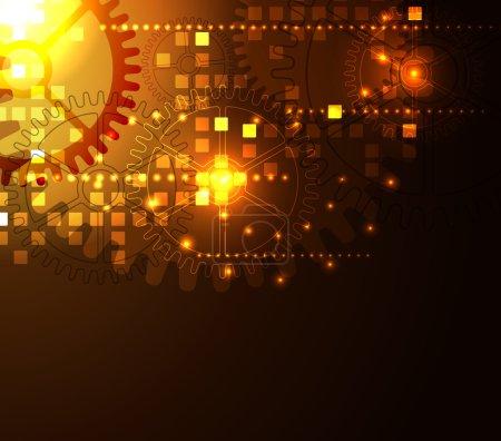 Glowing Techno Background