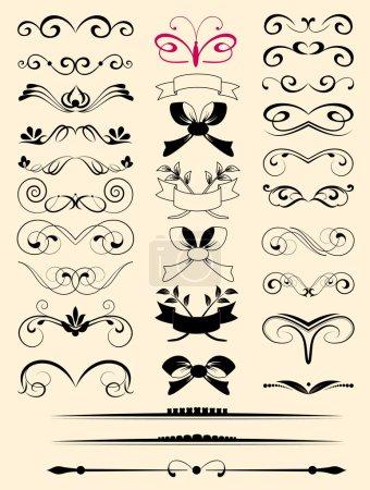 Set of small decorative elements