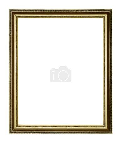Photo pour Pied de lampeor cadre antique isolé sur fond blanc - image libre de droit