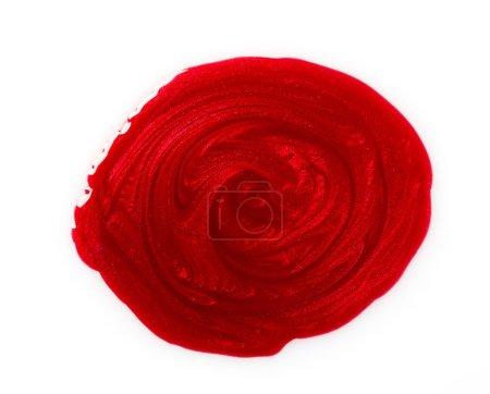 Photo pour Vernis à ongles rouge - image libre de droit