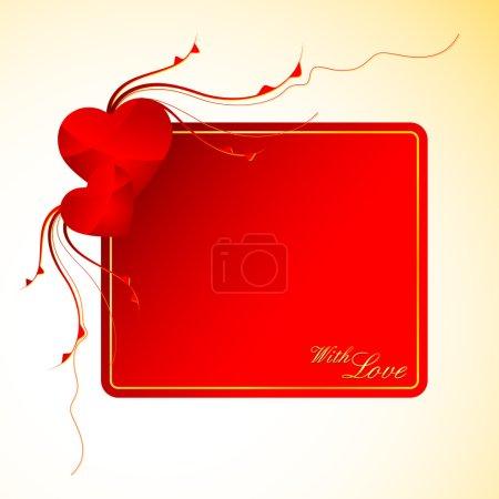 Photo pour Illustration de carte d'amour avec coeur - image libre de droit