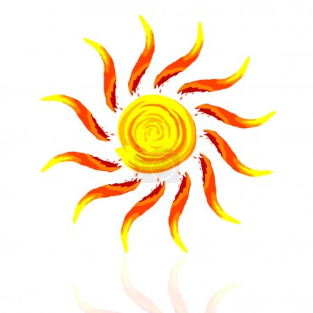 Photo for Illustration of abstract sun on white background - Royalty Free Image