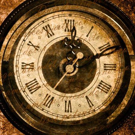 Old clock clockface close up texture