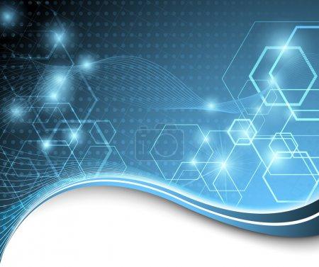 Illustration pour Fond technologique bleu. illustration vectorielle - image libre de droit