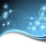 Blue technological background. Vector illustration...