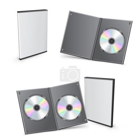 3d vector DVD boxes