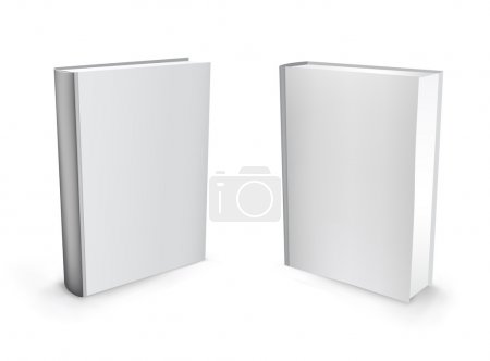 3d vector white standing mesh books isolated on th...