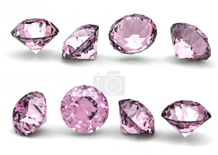 Collection of round pink diamond