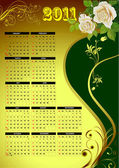 2011 calendar with flower image Vector illustration