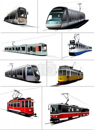 Photo for City transport. Tram. Vector illustration - Royalty Free Image