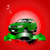 Rarity cars club award on sunrise background Cover for brochure
