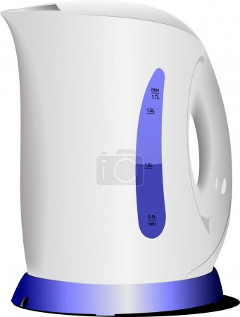 Shiny modern kettle. Vector illustration