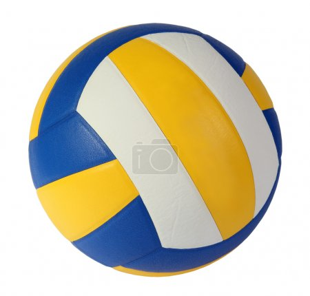 Photo for Volley-ball ball on the white background. (isolated) - Royalty Free Image
