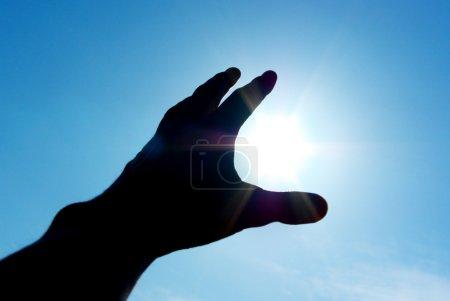 Photo pour Main au soleil. conception. - image libre de droit