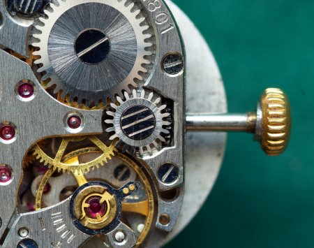 Photo pour Ancien mécanisme d'horloge. Élément de conception . - image libre de droit