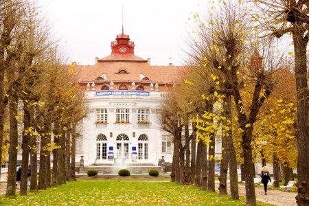Famous spa resort Karlovy Vary aka Karlsbad