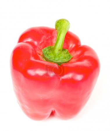 Bright red pepper isolated on white.
