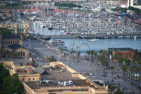 Барселона - 27 мая: вид с воздуха на собор Саграда Фамилия, Антони