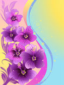 Hibiscus flowers tropical illustration vector
