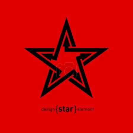 Élément de design abstrait étoile avec des flèches