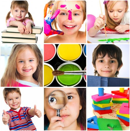 Photo for Education concept. Group of a carefree children - Royalty Free Image