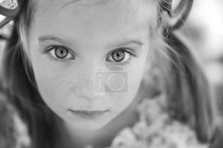 Portrait of a sad liitle girl