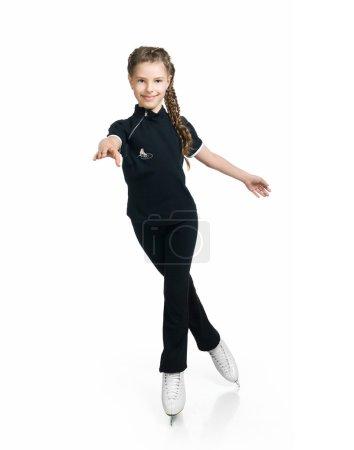 Young girl figure skating