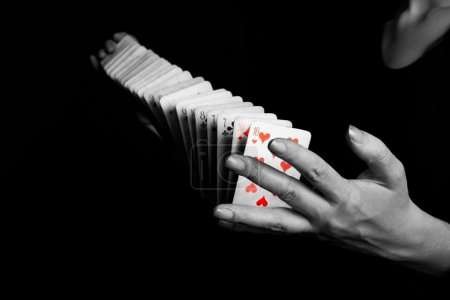 Trick with cards