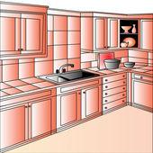 Furniture on kitchen