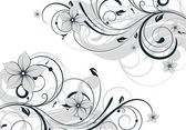 Floral abstract background for design