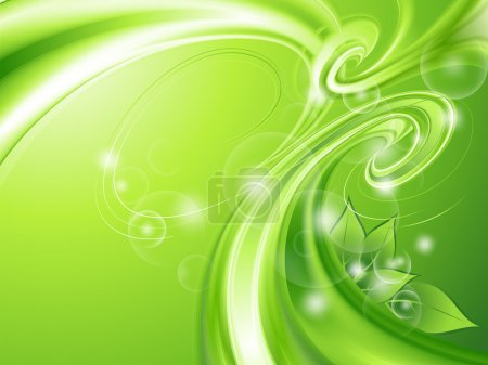 Abstract green background with leaves