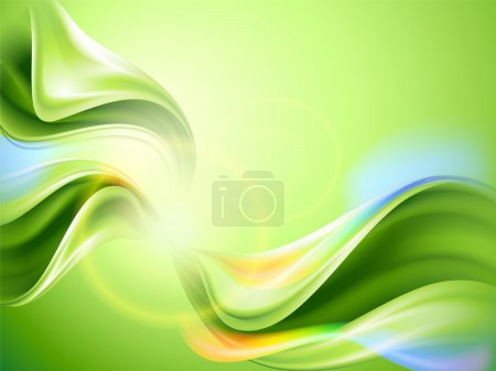 Photo for Abstract vector green background - Royalty Free Image