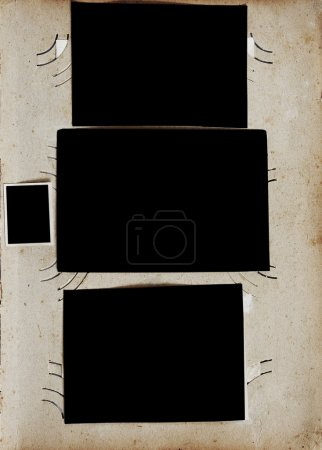 Photo for Vintage photo album page with blank photos - Royalty Free Image