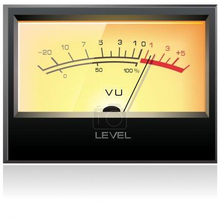 Analog electronic VU meter