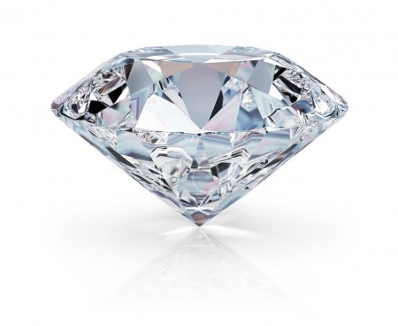 A beautiful sparkling diamond on a light reflectiv...
