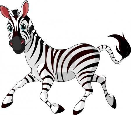 Illustration for Illustration of Funny running Zebra - Royalty Free Image