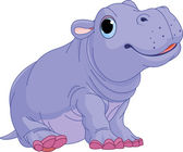 Illustration of cute baby Hippo boy