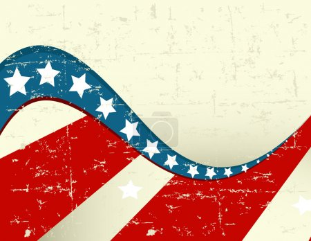 Illustration for Illustration of grange patriotic background - Royalty Free Image
