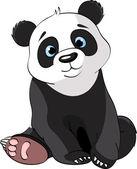 """Постер, картина, фотообои """"Сидя милые панды"""""""