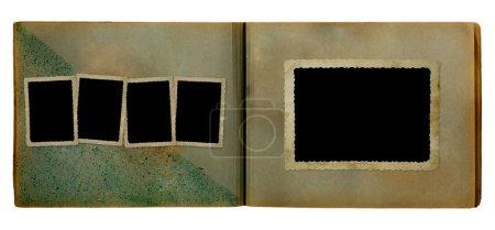 Photo pour Album photo vintage pour photos sur fond blanc isolé - image libre de droit