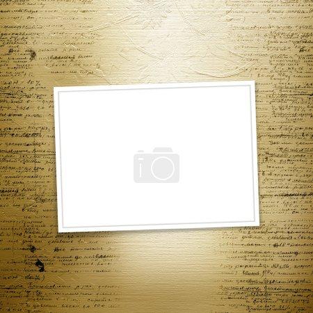Photo pour Grunge vieux papier design dans le style de réservation de ferraille avec écriture - image libre de droit