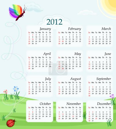 Calendar 2012 - USA version