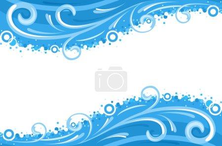 Water waves borders