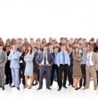 Big group of business . Isolated over white backgr...
