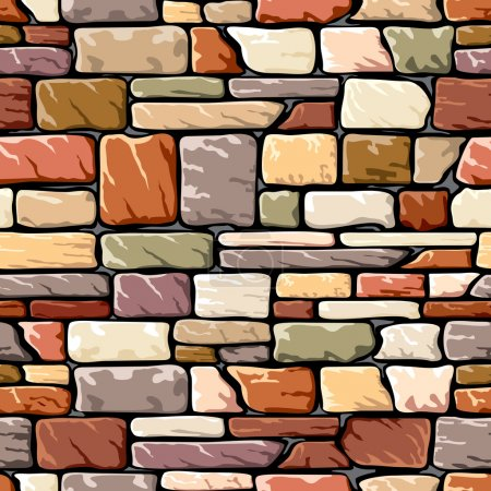 Color stone wall