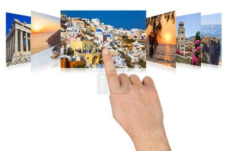 Photo pour Faire défiler à la main les images de voyage Grèce - concept nature et tourisme (mes photos ) - image libre de droit