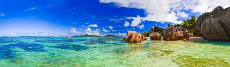 Photo for Beach Source d'Argent at Seychelles - nature background - Royalty Free Image